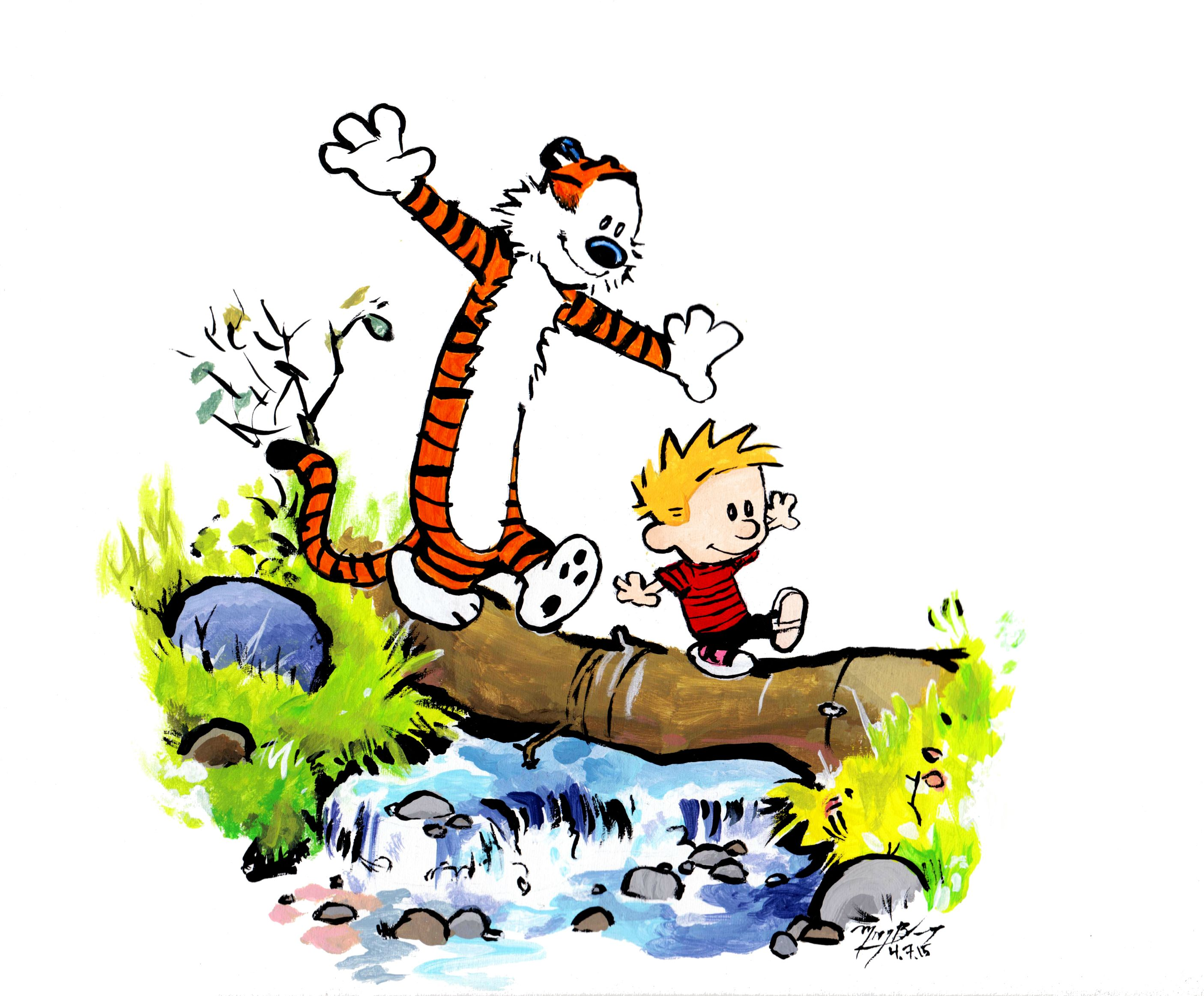 The cartoon characters Calvin & Hobbes